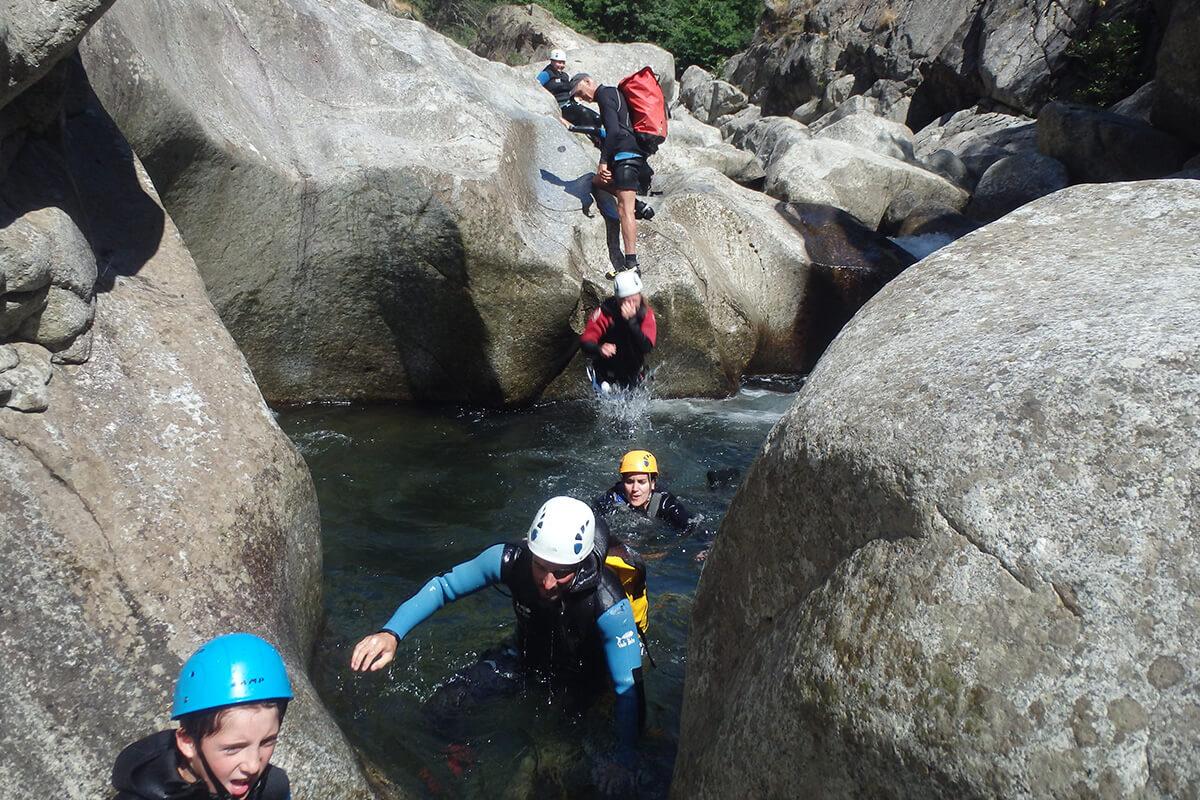 Canyoning famille – Chassezac